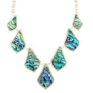 Kendra Scott Kensey Bib Necklace in Abalone Shell